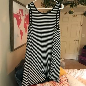 AE striped dress with cross back
